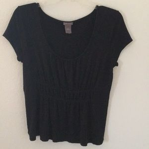 Black short sleeve Ann Taylor top size Medium